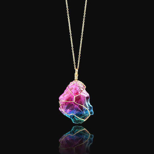 Aurora™ Rainbow Quartz Crystal Healing Necklace