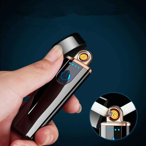 USB Flameless Lighter, Rechargeable, Windproof Lighter Set with USB Charging Cable and Gift Box