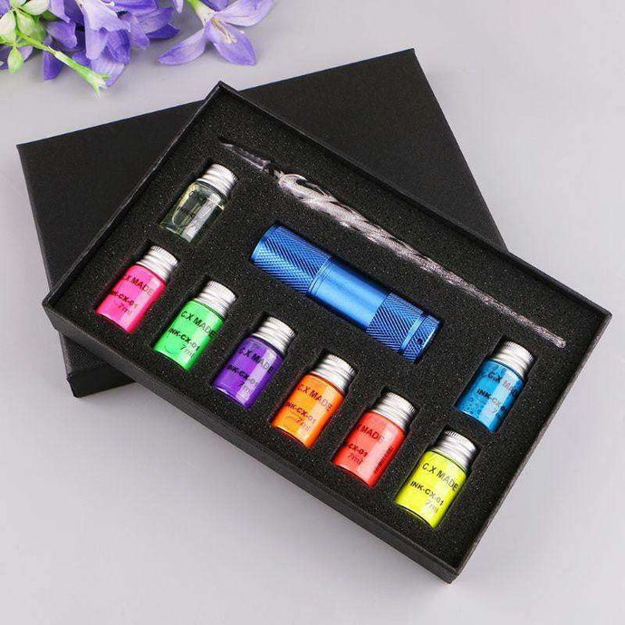 VintageArt™ Fluorescent Ink Glass Pen 10-Piece Set