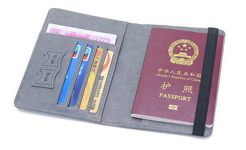 StrongHold™ RFID Blocking Vintage Business Passport Holder