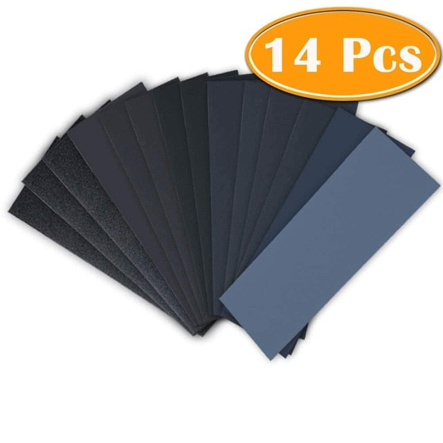 Pre-Burn Wood Prepping Sandpaper 14-Pieces, 120 To 3,000 Grit