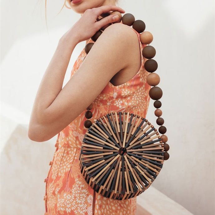 Tirzah™ Hand-Crafted Bamboo Beach Bag