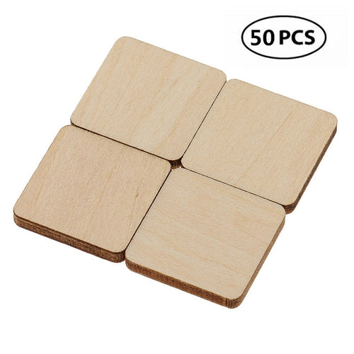Learn N' Burn™ Pyrography Wooden Blanks [50 Pieces]