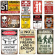 Load image into Gallery viewer, Vintage No Trespassing Metal Signs Beware Poster Plates sign Warning Fallout Metal Plaque Tin Sign Farmhouse Wall Decoration
