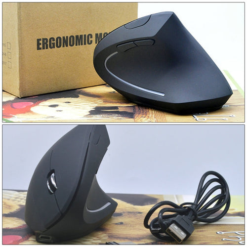 WristAnchor™ Ergonomic Vertical Rechargeable Mouse