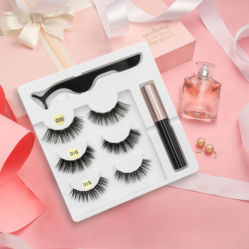 SexySheep™ Snap-On 3D Magnetic Eyelashes 8-pc Kit