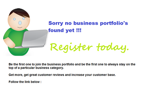 Sorry no business portfolio found yet !!!
