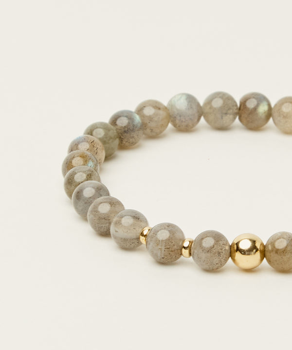 HIGHER TRANSFORMATION BRACELET WITH LABRADORITE & 14K GOLD