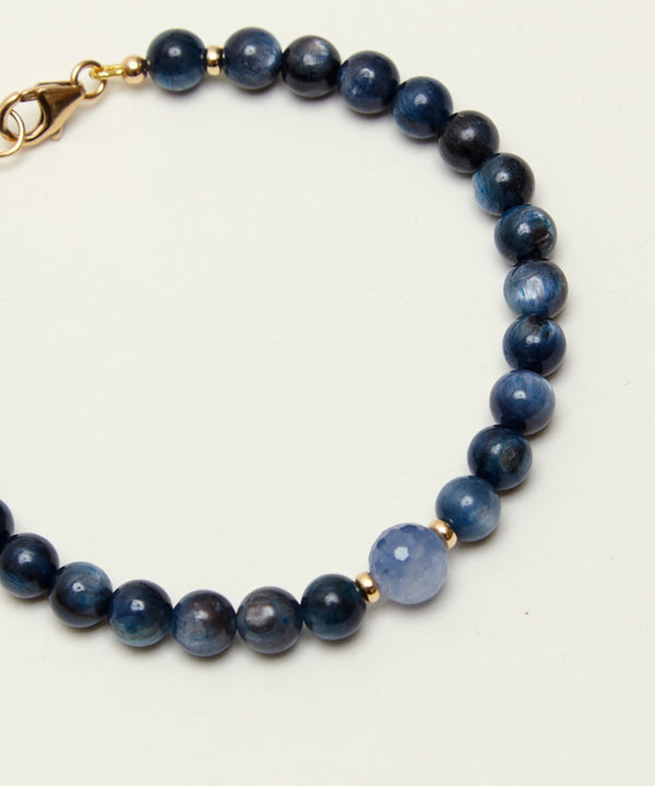 HIGHER WISDOM BRACELET WITH SAPPHIRE, KYANITE & 14K GOLD (LIMITED EDITION)