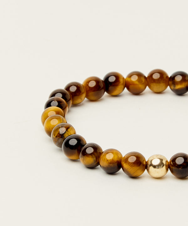 MANIFESTATION BRACELET WITH TIGERS EYE & 14K GOLD