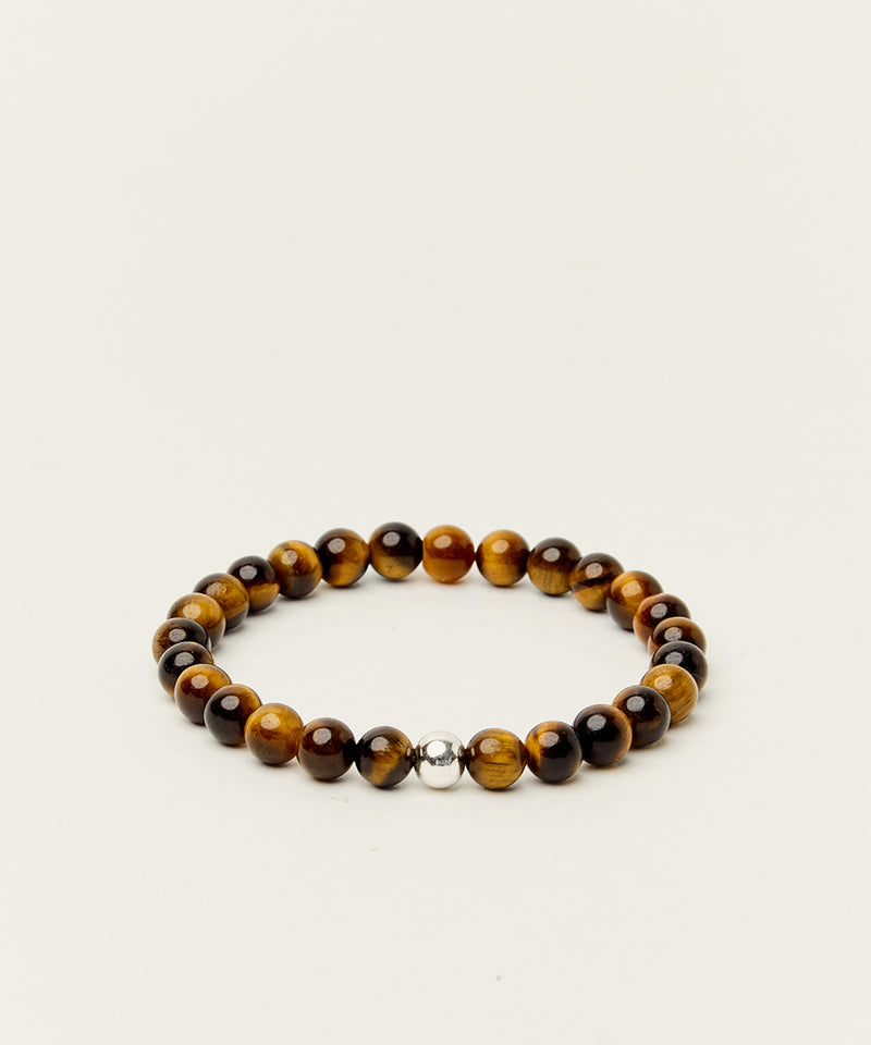 MANIFESTATION BRACELET WITH TIGERS EYE & STERLING SILVER
