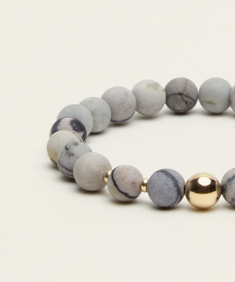 MR DELIGHTFUL BRACELET WITH PICASSO JASPER & 14K GOLD