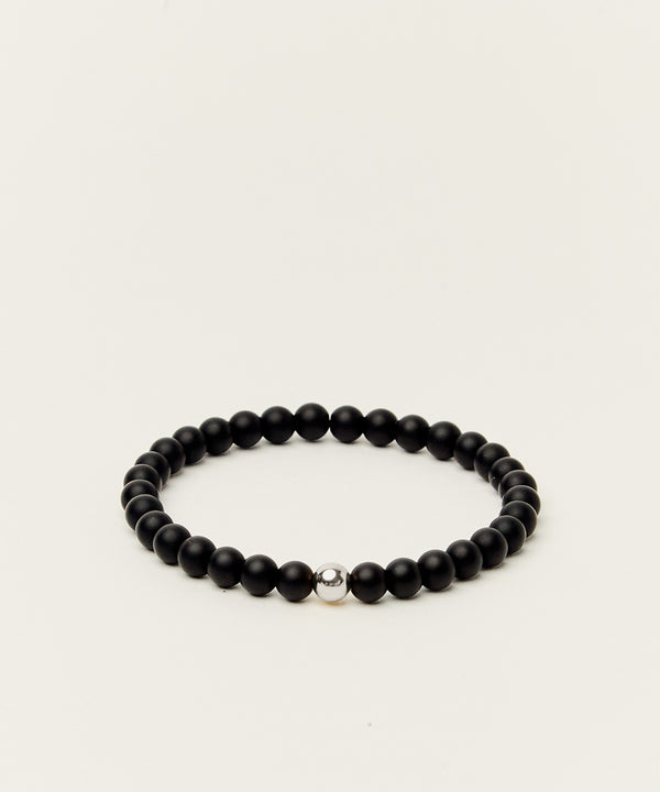 PROTECTION BRACELET WITH ONYX & STERLING SILVER