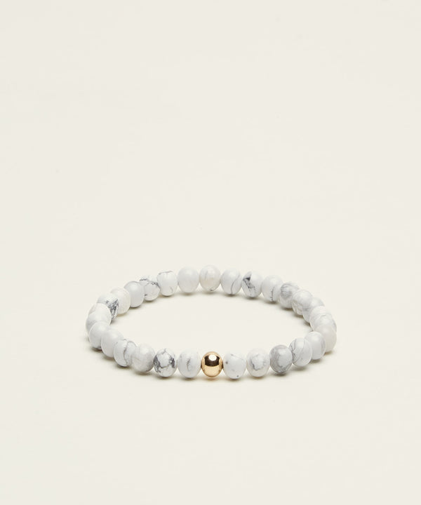 SERENITY BRACELET WITH HOWLITE & 14K GOLD
