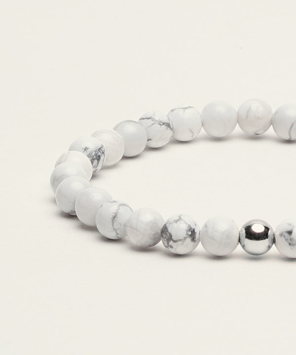 SERENITY BRACELET WITH HOWLITE & STERLING SILVER