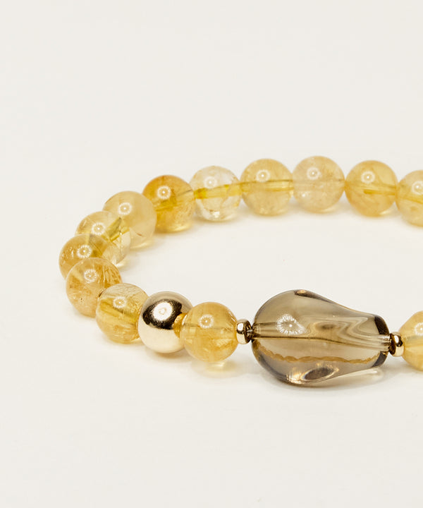 THE LIGHT MAKER BRACELET WITH SMOKY CITRINE, GOLDEN CITRINE & 14K GOLD
