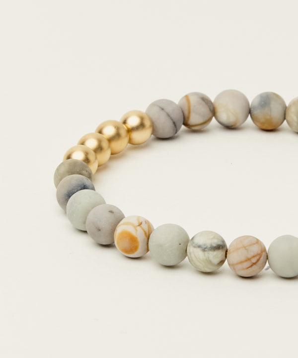 THE POTTS POINT BRACELET WITH PICASSO JASPER & 14K GOLD