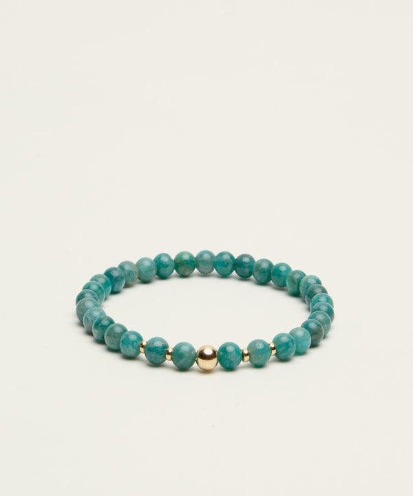 THE RAIN-MAKER BRACELET WITH AMAZONITE & 14K GOLD