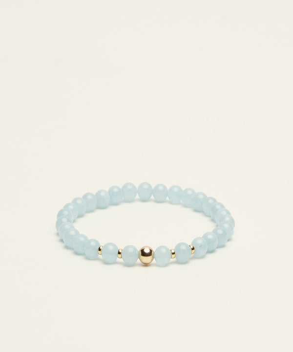 THE SEA-FARER BRACELET WITH AQUAMARINE & 14K GOLD