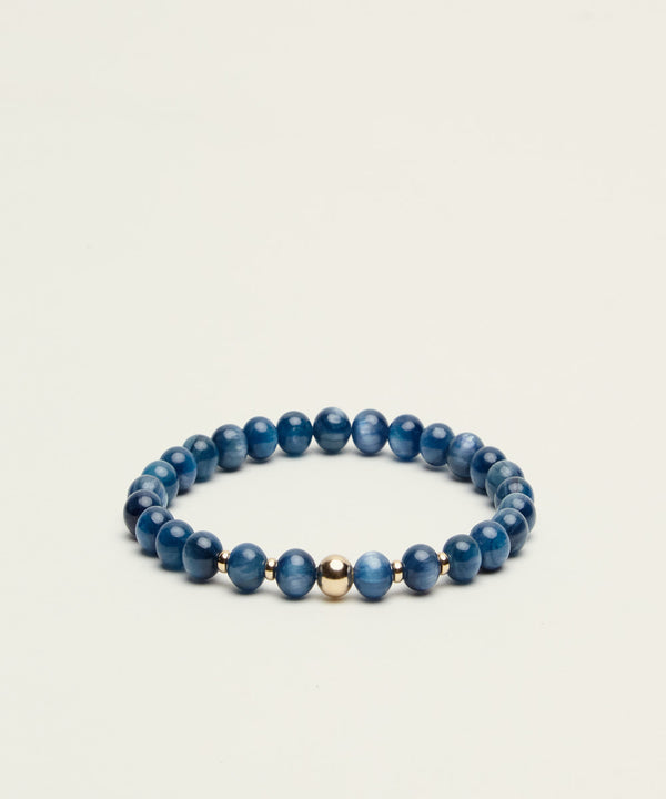 THE STAR-GAZER BRACELET WITH KYANITE & 14K GOLD