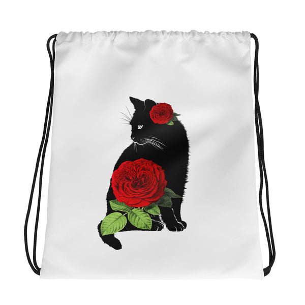 Cat Rose | Drawstring bag
