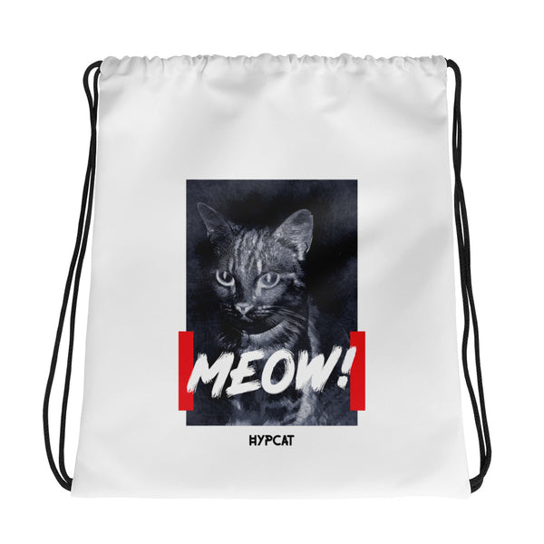 Meow Portrait | Drawstring bag