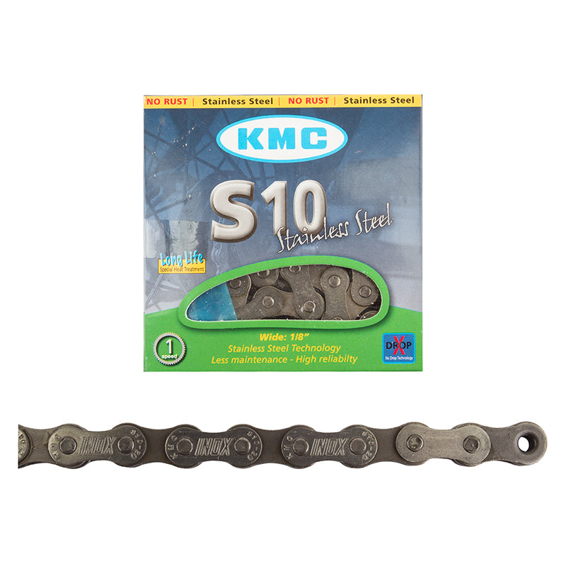 KMC S10 Stainless Steel Single Speed Chain