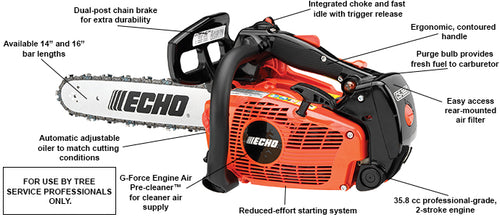 Echo Top Handle Chainsaw CS-355T 16