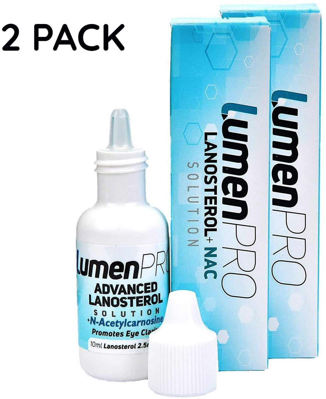 LumenPro Twin Pack (2x10ml, 4-8 Week Supply) Pet Eye Drops