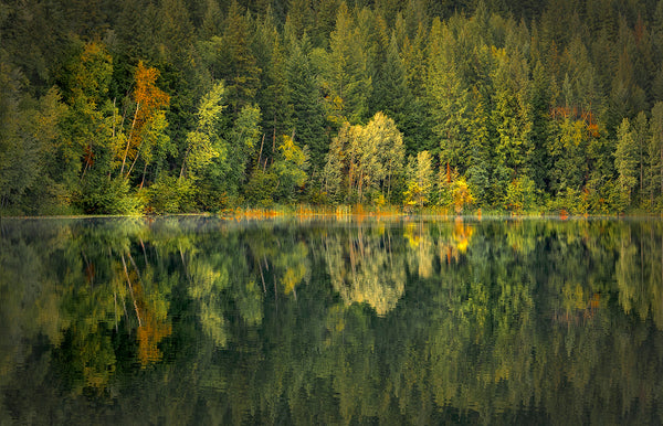Mountain Lake Fall Reflection