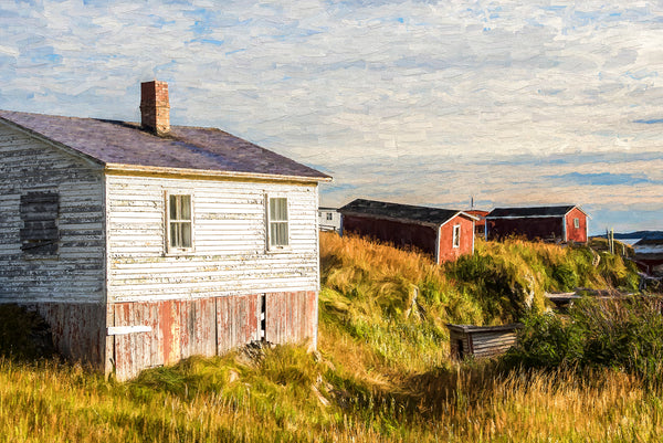 New Bonaventure Fishing Village Sunset - Newfoundland