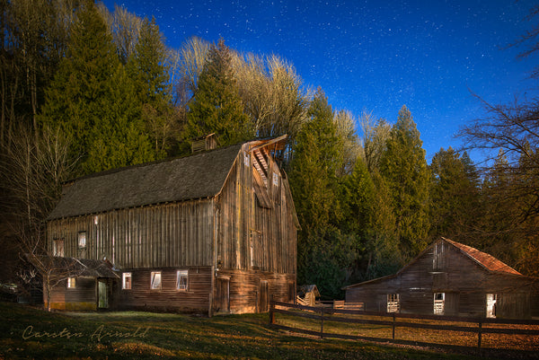 Old Barn at Twilight