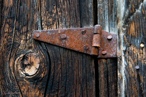 Rusty Barn Door Hinge