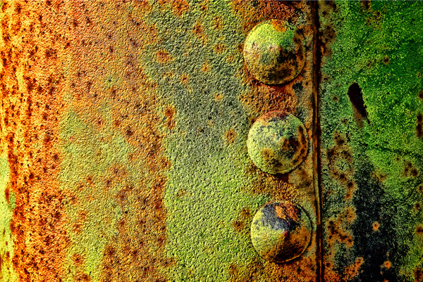 Rusted Tractor Boiler Abstract