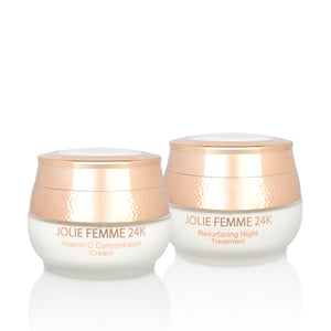 24K Vitamin C Concentrated Cream & Resurfacing Night Treatment