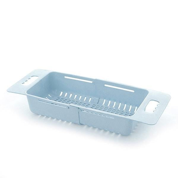 Adjustable Retractable Drain Basket - Plastic Multifunctional Sink Draining Rack - Vegetable Fruit Washing Storage Basket - looshore