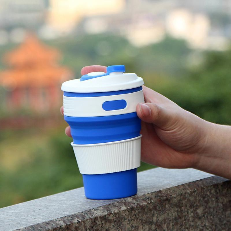 Creative outdoor silicone folding cup - looshore