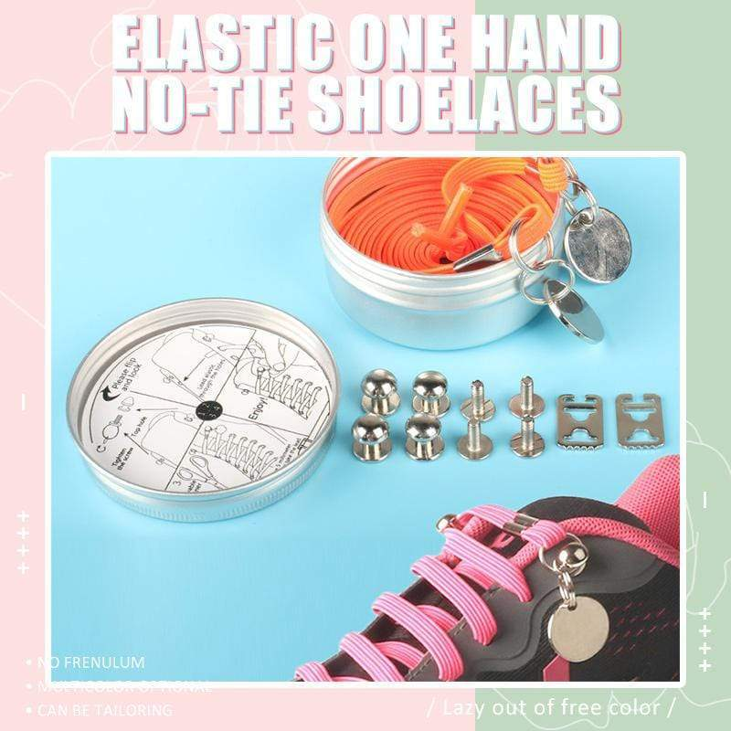 Elastic One Hand No-tie Shoelaces - looshore