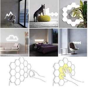 LED Light Honeycomb Touch Wall Light (5pcs) - looshore