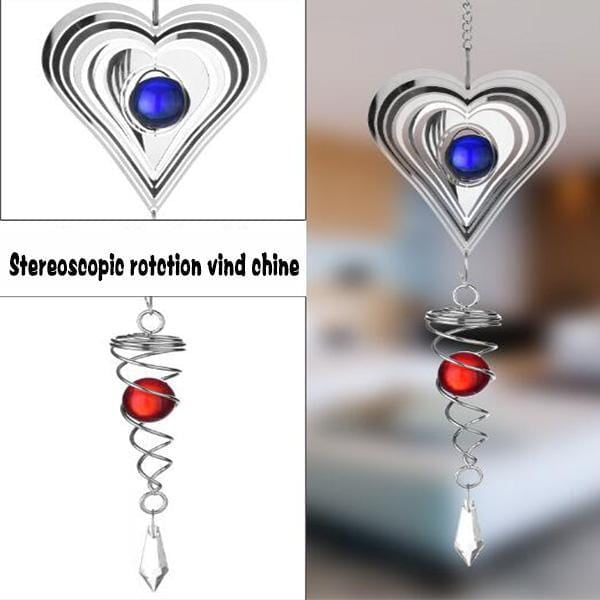 3D Rotating Wind Chime - looshore