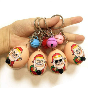 Santa Claus Expression Eggs Keychains - looshore