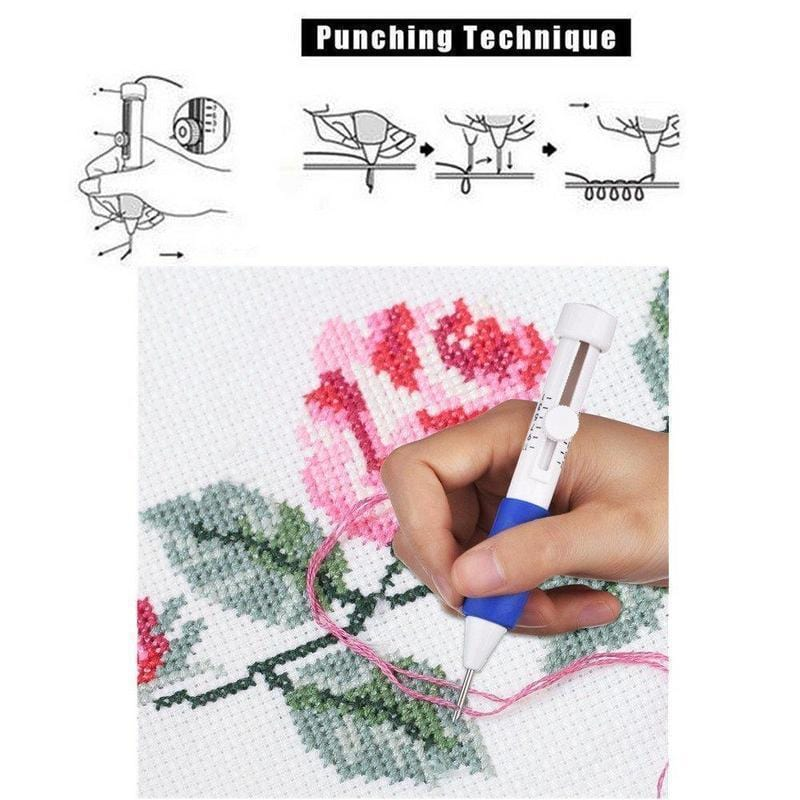 Embroidery Pen Punch Needles(1 SET) - looshore