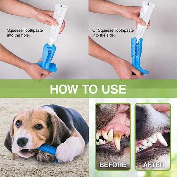 Dog Toothbrush Stick Dog Teeth Cleaning Treats Chew Toys - looshore