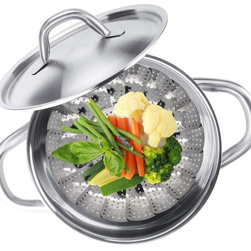 Collapsible Vegetable Steamer Basket - looshore