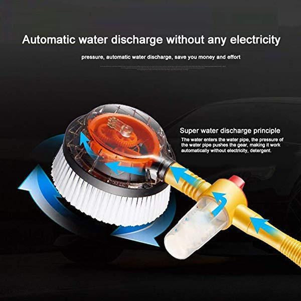Auto Rotating Retractable Car Wash Brush - looshore