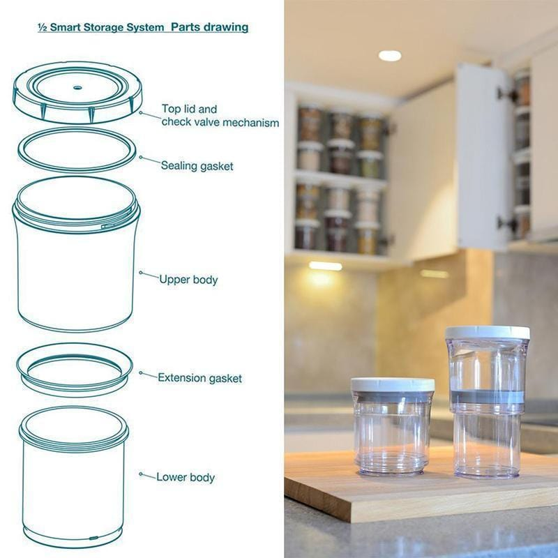 Adjustable Food Storage Container(2 Pcs) - looshore