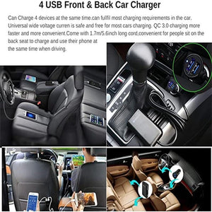 Car Front & Back Seat Charger