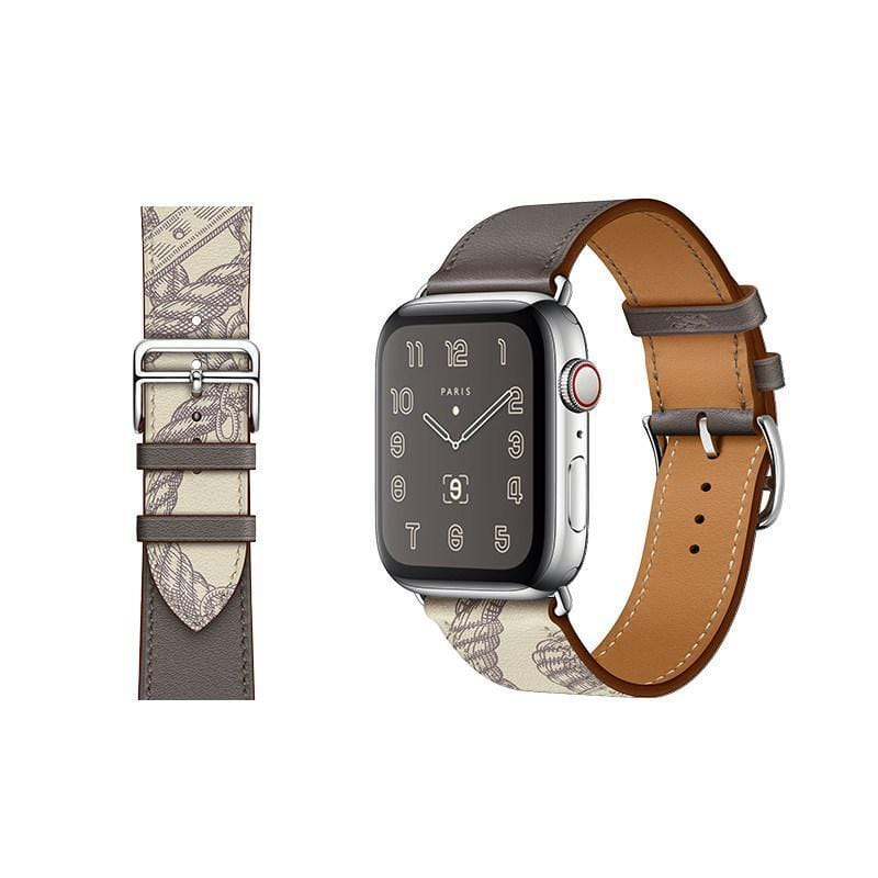 Leather Replacement Band Compatible With Apple Watch