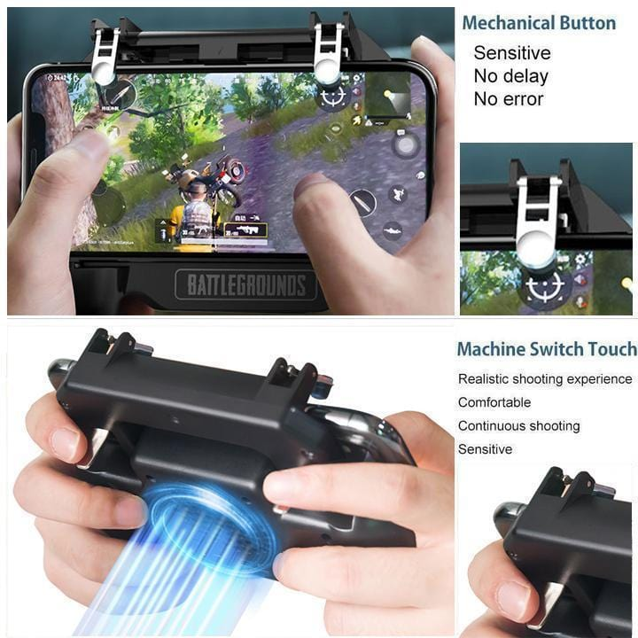 Mobile Gaming Controller/Trigger for PUBG/Fortnite/Rules of Survival Gaming Grip - looshore