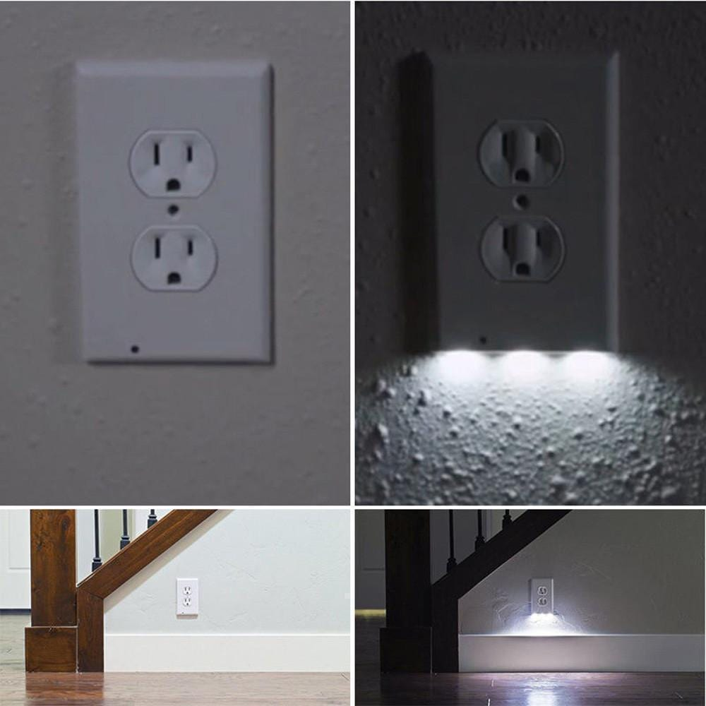 LED Sensor Night Light Socket Cover - looshore